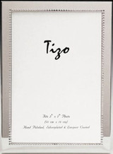 Tizo Inside Beads Silver Plated Picture Frame 4 X 6 Inch Triple Inch Engravable Homebello