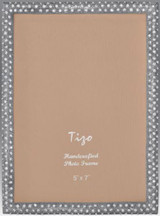 Tizo Shamoo Jeweled Silver Picture Frame 4 x 6 Inch MPN: RS710SL-46