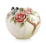 Franz Porcelain Vase Chickadee Camellia MPN: FZ02972 UPC: 817714011785