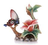 Franz Porcelain Figurine Butterfly Hibiscus MPN: FZ03270 UPC: 817714014403