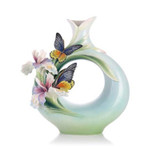 Franz Porcelain Vase Birdwing Butterfly Limited Edition MPN: FZ03277 UPC: 817714014182