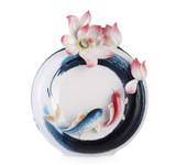 Franz Porcelain Vase Carp And Lotus MPN: FZ03286 UPC: 817714014908