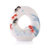 Franz Porcelain Vase Goldfish MPN: FZ03350 UPC: 817714014588
