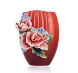 Franz Porcelain Vase Hibiscus MPN: FZ03355 UPC: 817714014045