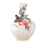 Franz Porcelain Vase Butterfly & Peach Limited Edition MPN: FZ03460 UPC: 817714015530