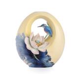 Franz Porcelain Vase Lotus & Kingfisher MPN: FZ03482 UPC: 817714014755