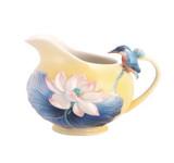 Franz Porcelain Creamer Lotus & Kingfisher MPN: FZ03486 UPC: 817714014748
