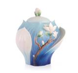 Franz Porcelain Sugar Jar Magnolia MPN: FZ03488 UPC: 817714014786