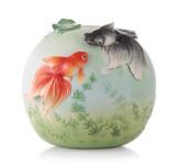 Franz Porcelain Vase Goldfish MPN: FZ03530 UPC: 817714015141