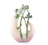 Franz Porcelain Vase Bamboo Song Bird MPN: FZ03593 UPC: 817714015493