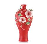 Franz Porcelain Vase Hibiscus MPN: FZ03594 UPC: 817714015707