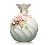 Franz Porcelain Vase Chinese Rose Daisy MPN: FZ03633 UPC: 817714015738