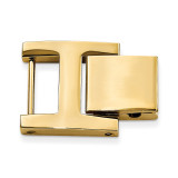 14mm x 14mm H-Clasp Gold-tone  Fold-over Extender Stainless Steel MPN: FTL155Y-14