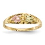 Black Hills Gold Ring 10k Tri-color MPN: 10BH687