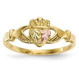 Black Hills Gold Claddagh Ring 10k Tri-color MPN: 10BH709