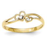 CZ Double Heart Ring 10k Gold MPN: 10C1338 UPC: 191101366567