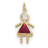 January Girl Birthstone Charm 10k Gold MPN: 10XCK156 UPC: 716838192625