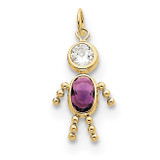 February Boy Birthstone Charm 10k Gold MPN: 10XCK159 UPC: 716838192519