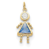 March Girl Birthstone Charm 10k Gold MPN: 10XCK160 UPC: 716838192649