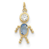 March Boy Birthstone Charm 10k Gold MPN: 10XCK161 UPC: 716838192526