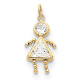 April Girl Birthstone Charm 10k Gold MPN: 10XCK162 UPC: 716838192656
