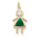 May Girl Birthstone Charm 10k Gold MPN: 10XCK164 UPC: 716838192663
