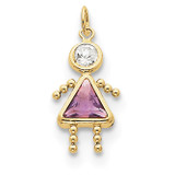 June Girl Birthstone Charm 10k Gold MPN: 10XCK166 UPC: 716838192670
