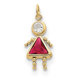 July Girl Birthstone Charm 10k Gold MPN: 10XCK168 UPC: 716838192687