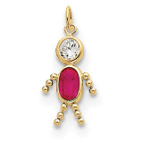 July Boy Birthstone Charm 10k Gold MPN: 10XCK169 UPC: 716838192564