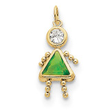 August Girl Birthstone Charm 10k Gold MPN: 10XCK170 UPC: 716838192694