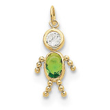 August Boy Birthstone Charm 10k Gold MPN: 10XCK171 UPC: 716838192571