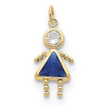 September Girl Birthstone Charm 10k Gold MPN: 10XCK172 UPC: 716838192700