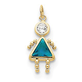 December Girl Birthstone Charm 10k Gold MPN: 10XCK178 UPC: 716838192731