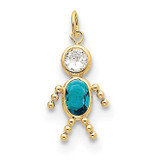 December Boy Birthstone Charm 10k Gold MPN: 10XCK179 UPC: 716838192618