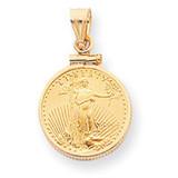 1/10th oz Mounted American Eagle Screw Top Coin Bezel 14k Gold MPN: BA10/10AEC UPC: 883957043135