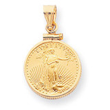 1 oz Mounted American Eagle Screw Top Coin Bezel 14k Gold MPN: BA10/1AEC UPC: 883957043142