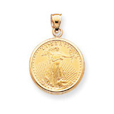 1oz Mounted American Eagle Polished Plain Bezel 14k Gold MPN: BA50/1AEC UPC: 883957043630