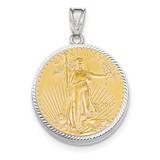 Diamond -cut Prong 1/2AE Bezel with coin 14k white Gold MPN: BA67W/2AEC