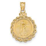 Screw Top 1/10 oz Mounted American Eagle Coin Bezel 14k Gold MPN: BA70/10AEC UPC: 883957044040