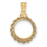 Hand Made Rope Diamond -cut Screw Top 1/20P Bezel 14k Gold MPN: BA70D/20P