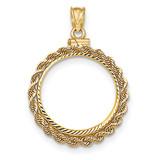Hand Made Rope Diamond -cut Screw Top 1/4P Bezel 14k Gold MPN: BA70D/4P