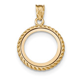Casted Rope Polished Prong 1/10AE Bezel 14k Gold MPN: BA71Y/10AE