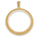 Casted Rope Polished Prong 1AE Bezel 14k Gold MPN: BA71Y/1AE