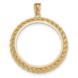 Casted Rope Polished Prong 1P Bezel 14k Gold MPN: BA71Y/1P