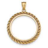 Casted Rope Diamond -cut Prong 1/2AE Bezel 14k Gold MPN: BA71YD/2AE