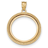 Beaded Polished Prong 1/4P Bezel 14k Gold MPN: BA73Y/4P