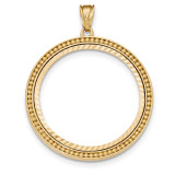 Beaded Diamond -cut Prong 1AE Bezel 14k Gold MPN: BA73YD/1AE