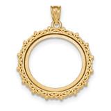 Fancy Polished Prong 1/4AE Bezel 14k Gold MPN: BA77Y/4AE