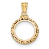 Casted Rope Polished Screw Top 1/20P Bezel 14k Gold MPN: BA79Y/20P
