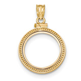 Beaded Polished Screw Top 1/10AE Bezel 14k Gold MPN: BA81Y/10AE